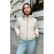 Женская куртка дутая зимняя KML 0010 S (42-44) Бежевый (0010/5 A)